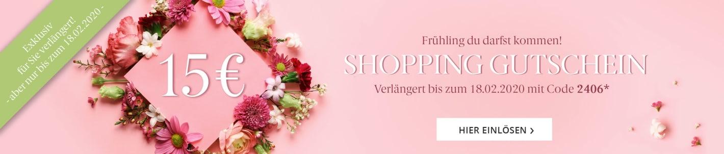 Shopping Gutschein 15 Euro