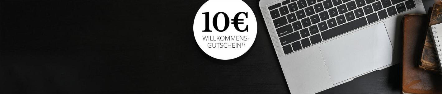 Für den Newsletter anmelden und 10€Gutschein sichern