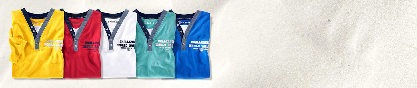Nur 40 €: 2 Shirts Ihrer Wahl in 5 verschiedenen Farben