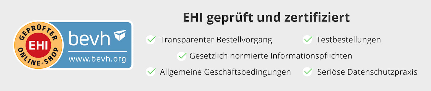 WELLSANA: bevh / EHI geprüft und zertifiziert