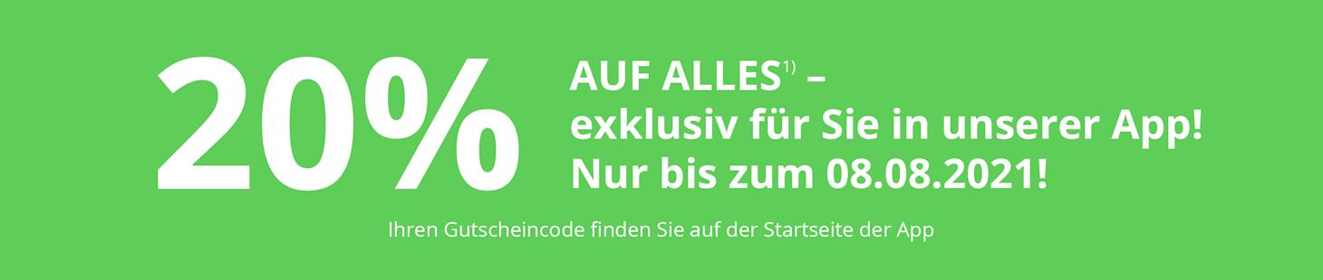 Exklusives App-Angebot bis zum 08.08.