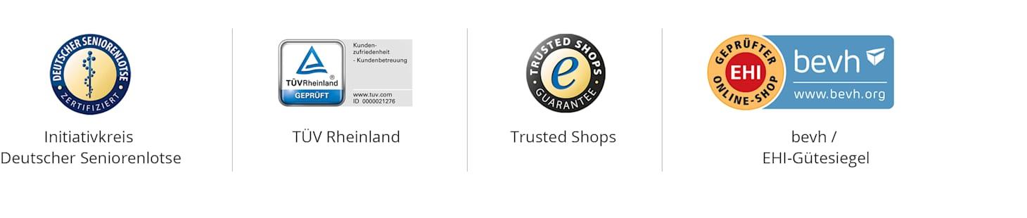 Zertifizierungen & Siegel für sicheres Einkaufen | WELLSANA