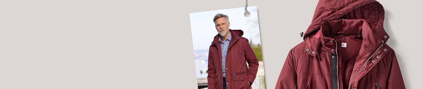 Lämpimiä takkeja miehelle