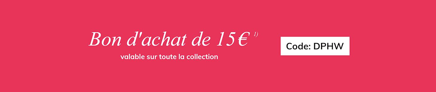 Bon d`achat de 15€
