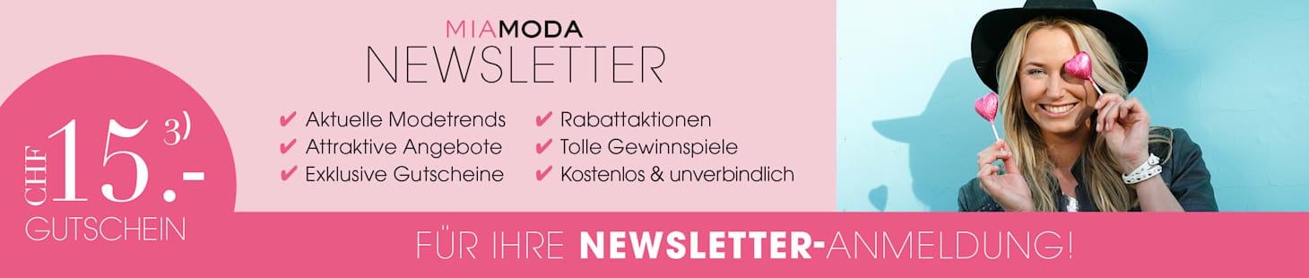 MIAMODA Grosse Grössen Newsletteranmeldung CHF 15,- Gutschein