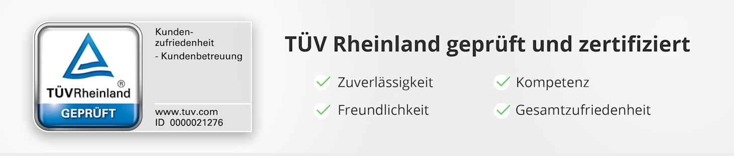 WELLSANA: TÜV Rheinland geprüft und zertifiziert