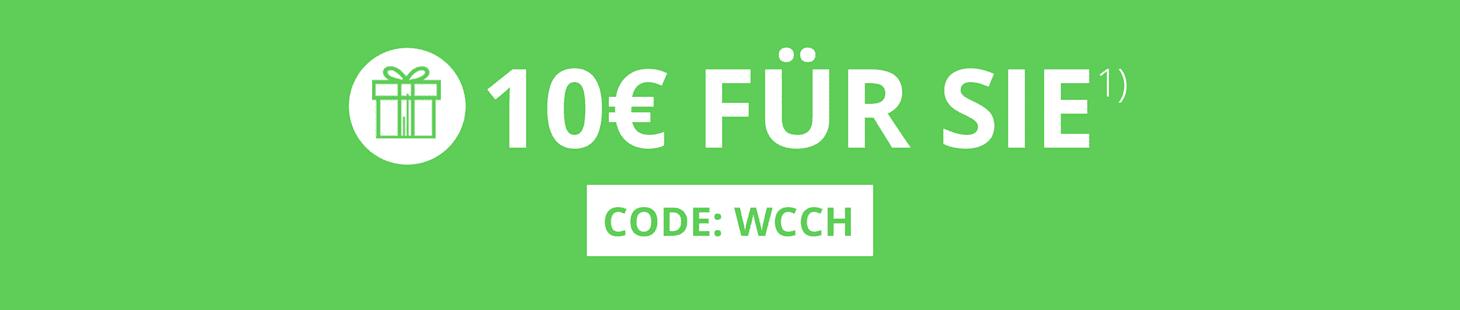 Gleich bei WELLSANA bestellen und sparen: 10€ für Sie! Code: WCCH