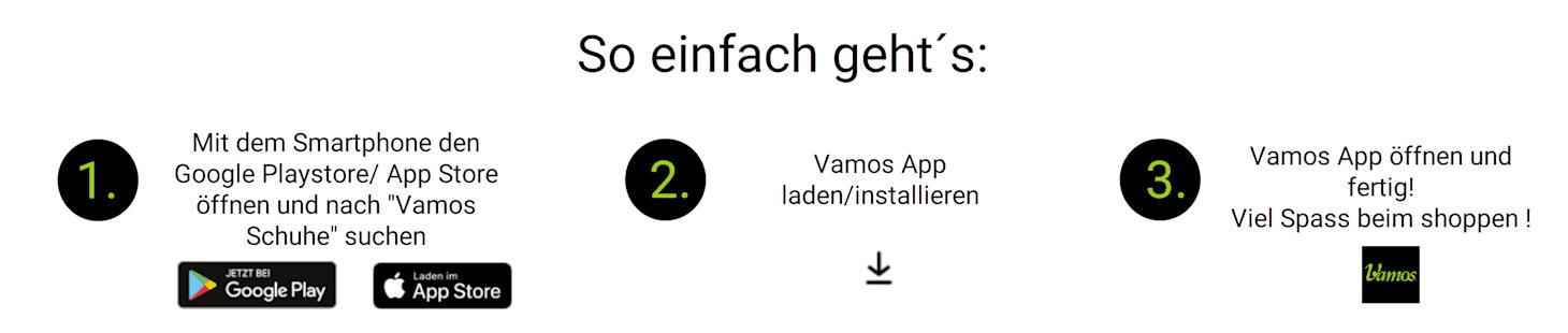 Anleitung zum Download der Vamos App
