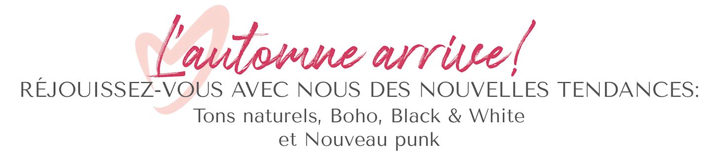 MIAMODA grandes tailles tendances automne : tons naturels, boho, noir & blanc et nouveaux punk