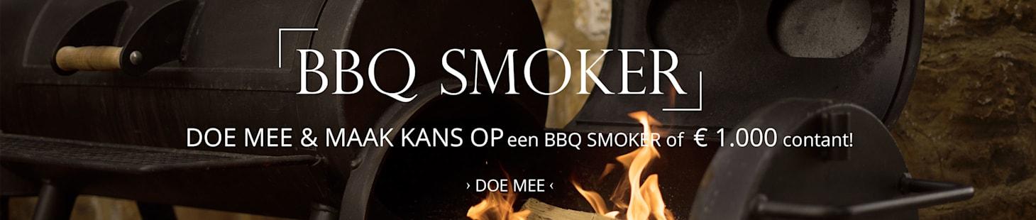 DOE MEE & MAAK KANS OP een BBQ Smoker of € 1.500 contant