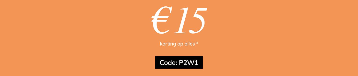 € 15 korting