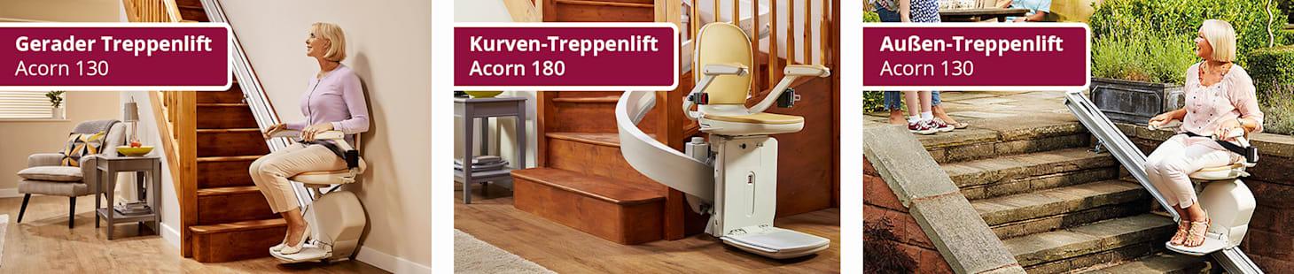 Wellsana Acorn Treppenlifte Modelle
