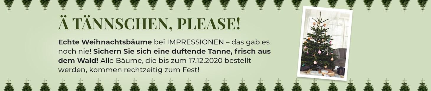 Echte Weihnachtsbäume bei IMPRESSIONEN!