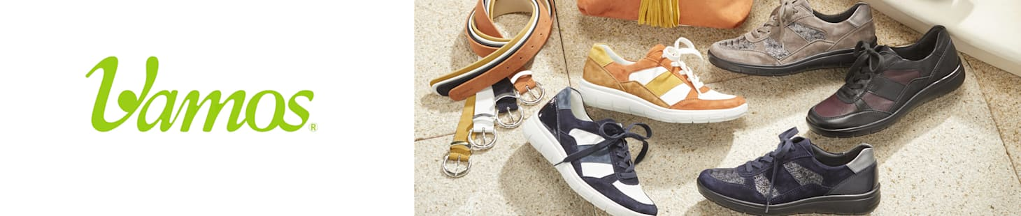 Schuhe und Taschen der Marke Vamos