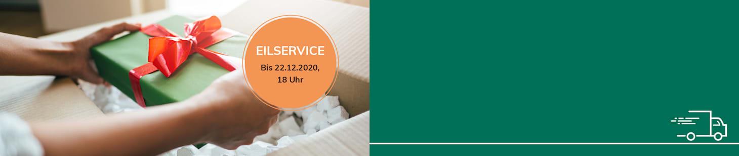 Bestellen Sie bis zum 17.12.20, 18 Uhr und Sie erhalten Ihre Lieferung noch vor dem 24.12.
