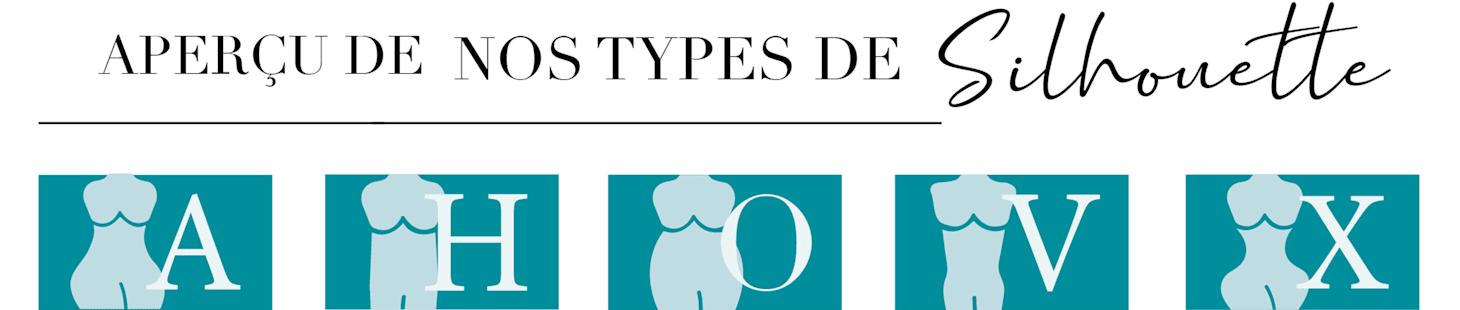 Aperçu de nos types de silhouette