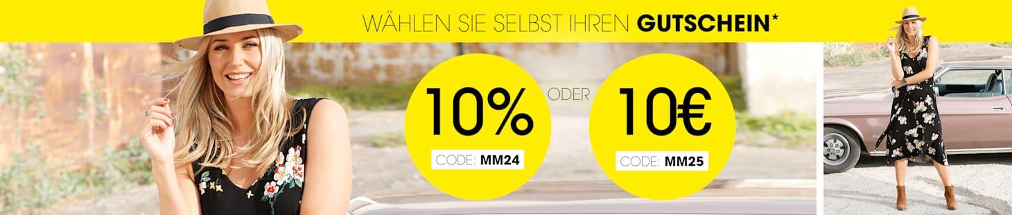 MIAMODA Große Größen 10% oder 10€ Gutschein Sie wählen selbst