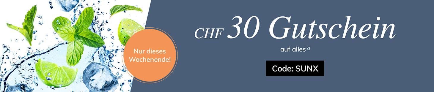 CHF 30.- Gutschein sichern