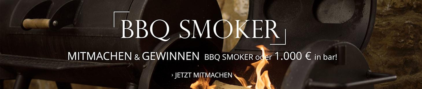 Mitmachen & gewinnen: BBQ Smoker oder 1.000 € in bar!