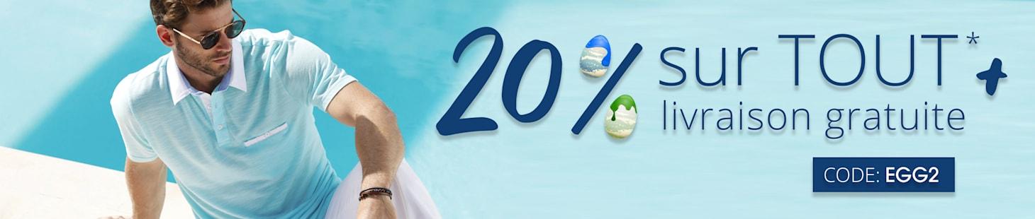 20% sur tout + livraison gratuite avec le code: EGG2