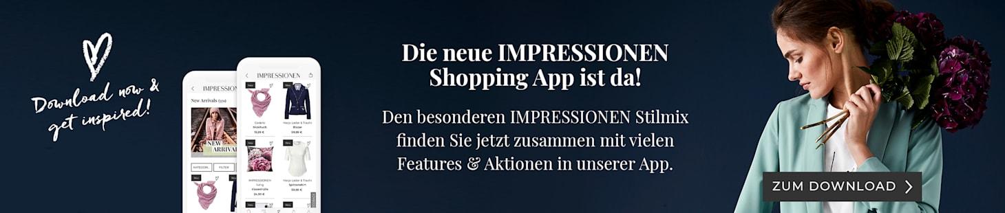 Die neue IMPRESSIONEN Shopping App ist da - Jetzt downloaden