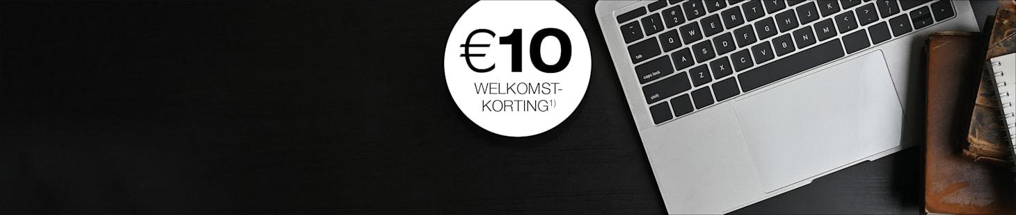 Shop met € 10 welkomstkorting!