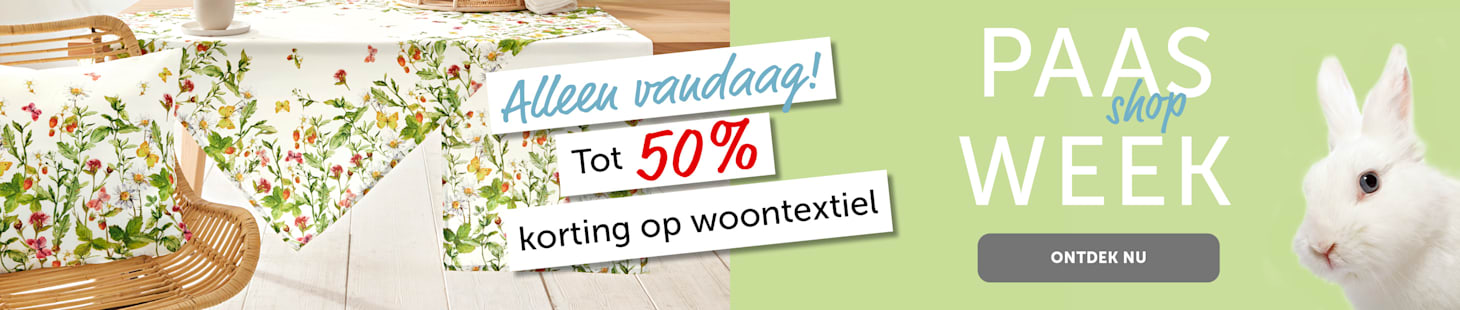 Easter shopping week woontextiel