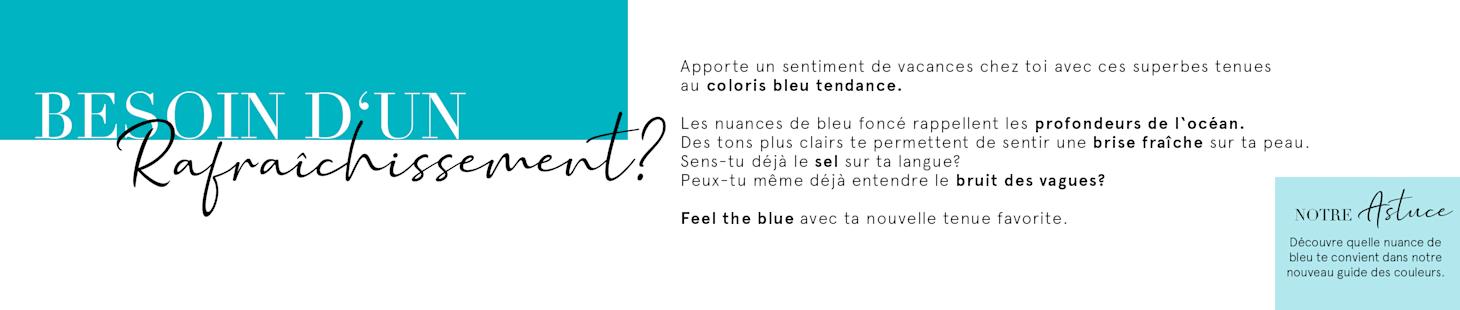 Feel the blue - CHF 20.- bon d'achat | Code: 8LUE