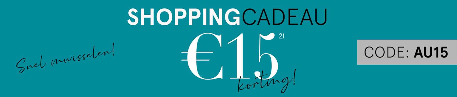 Shopping Cadeau €15 korting