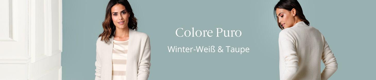 Colore Puro | Winter-Weiß & Taupe