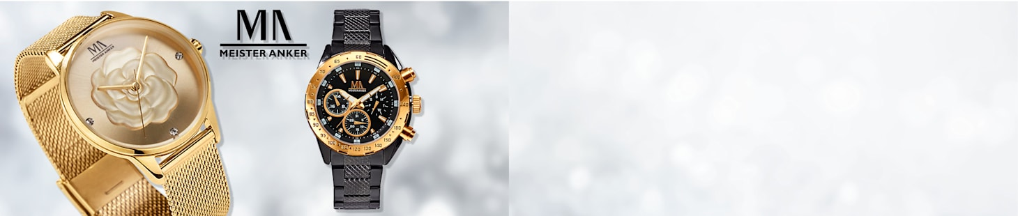 Jopa 60% alennus³ valikoiduista Meister Anker -kelloista