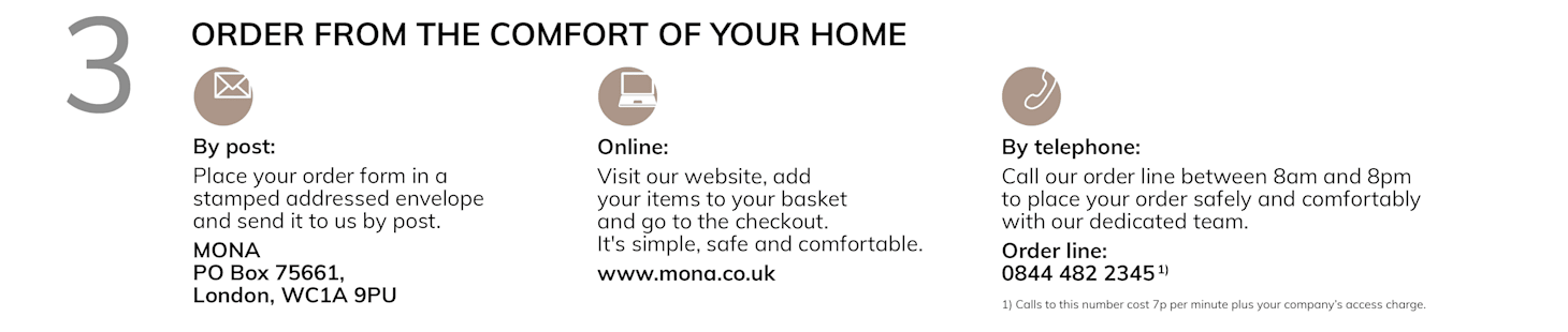 Comfortable, safe and secure shopping