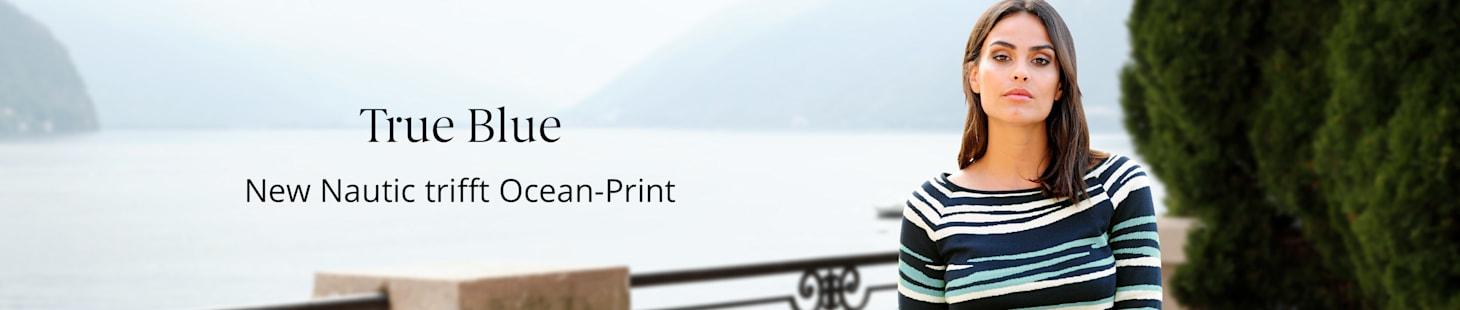 True Blue: New Nautic trifft Ocean-Print