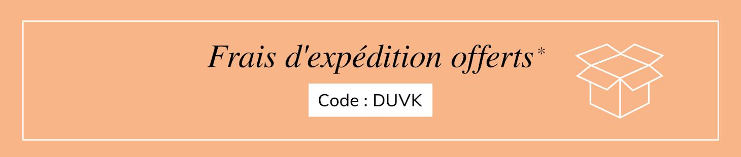 Frais d'expedition offerts