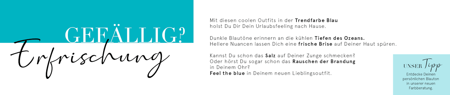 Feel the blue mit deinem CHF 20.- Gutschein | Code: 8LUE