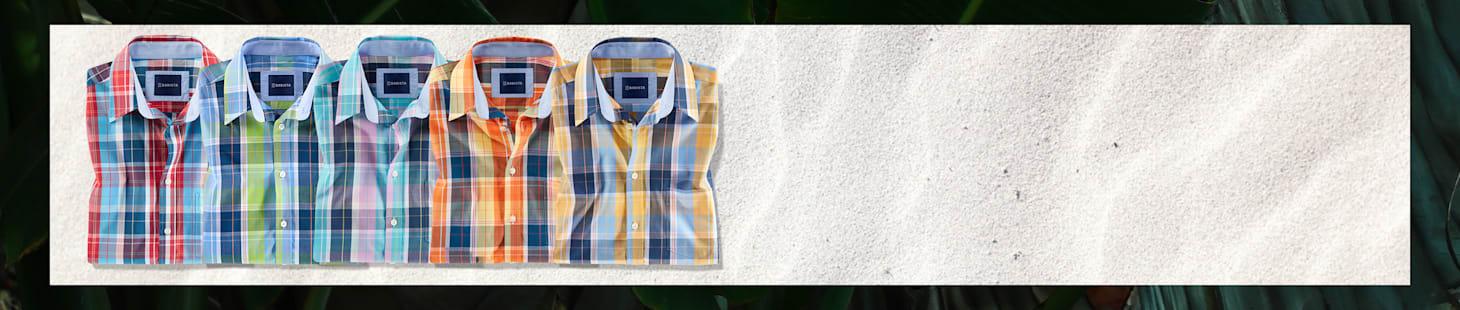 2 Kurzarmhemden Ihrer Wahl in 4 verschiedenen Farben - nur 50 €