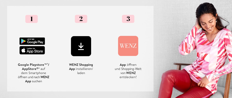 Anleitung zum Download der WENZ Shopping App