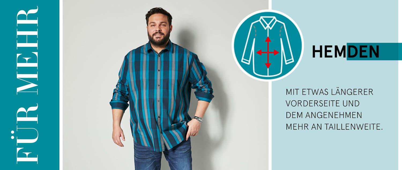 Spezialschnitt-Hemden Herren