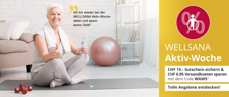 Die WELLSANA Aktiv-Woche: Gutschein, Gratis-Versand & tolle Angebote für noch mehr Spass an Bewegung