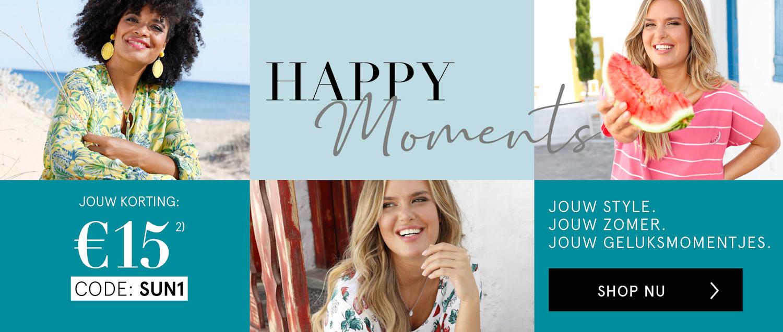 HAPPY Moments - Jouw korting: €15   Code: SUN1.