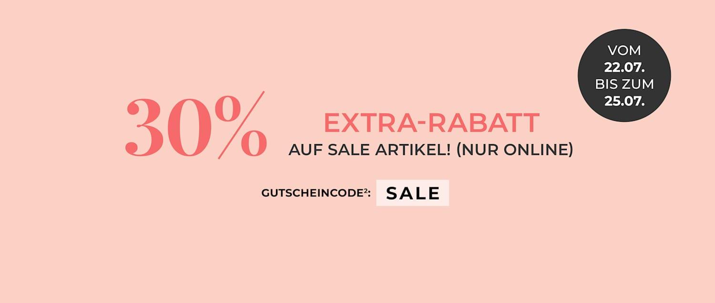 SUPER-SALE - 30% Extra-Rabatt auf alle Sale Artikel