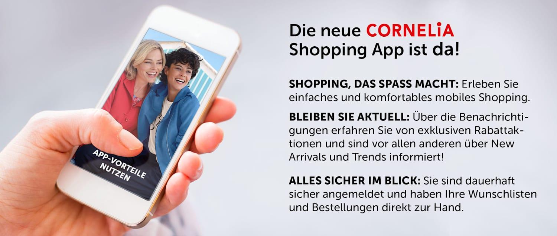 Neue CORNELIA Shopping APP ist da - Informationen