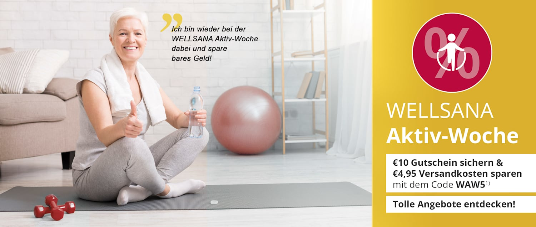 Die WELLSANA Aktiv-Woche: Gutschein, Gratis-Versand & tolle Angebote für noch mehr Spaß an Bewegung