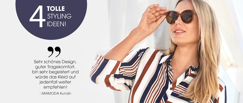 MIAMODA Große Größen Trend Blusenkleider