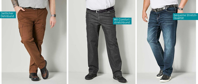 Spezialschnitt Hosen Männer