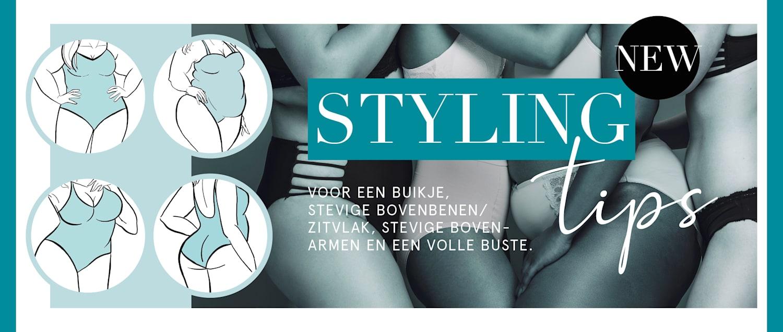 Styling-tips voor een buikje, stevige bovenbenen/zitvlak, stevige bovenarmen en een volle buste