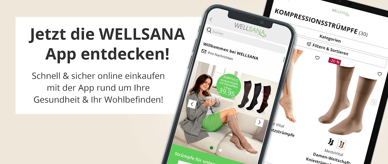 Die App rund um Ihre Gesundheit & Ihr Wohlbefinden | WELLSANA