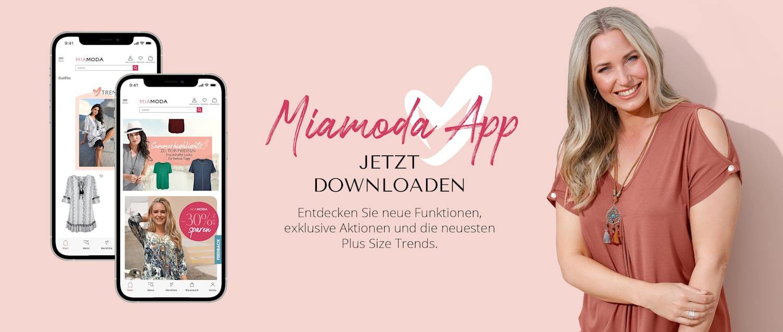MIAMODA Grosse Grössen Mobile App