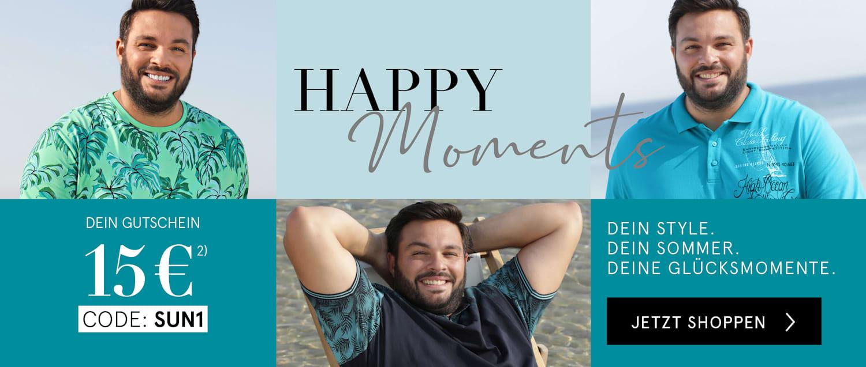 Happy moments | Dein 15€ Gutschein mit dem Code SUN1