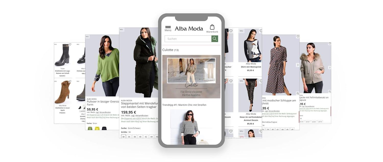 Alba Moda App-Screens